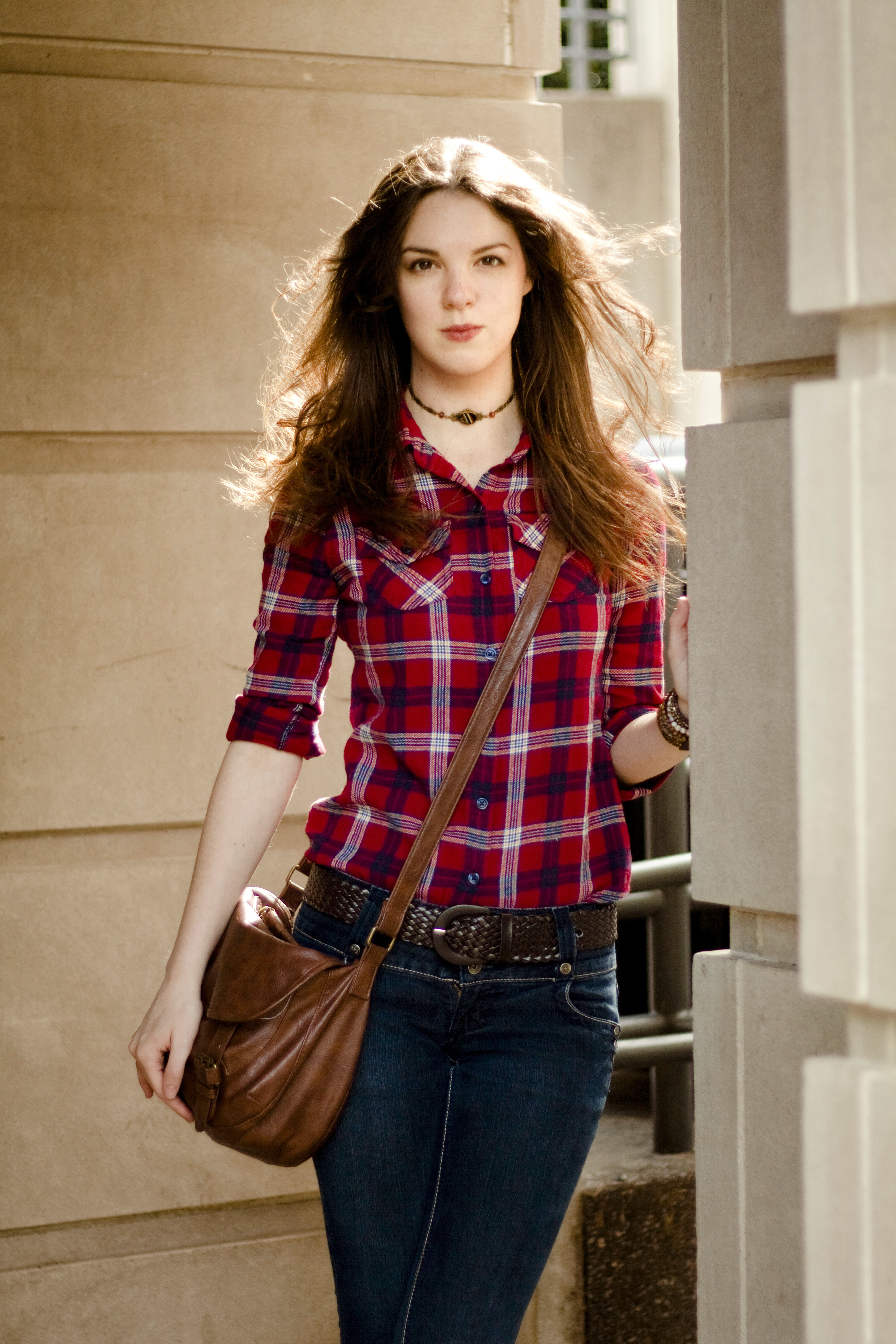Outfit Of The Week The Red Plaid Shirt The Lady Nerd