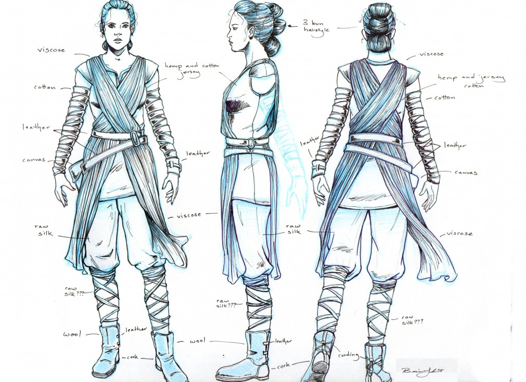 Star Wars: The Force Awakens Rey Costume Turnaround