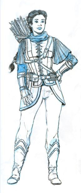 Allon book character Shannan Costume Design