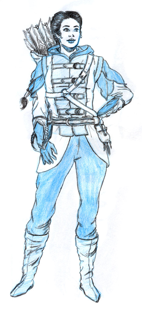 Allon book series Shannon Final Costume Sketch