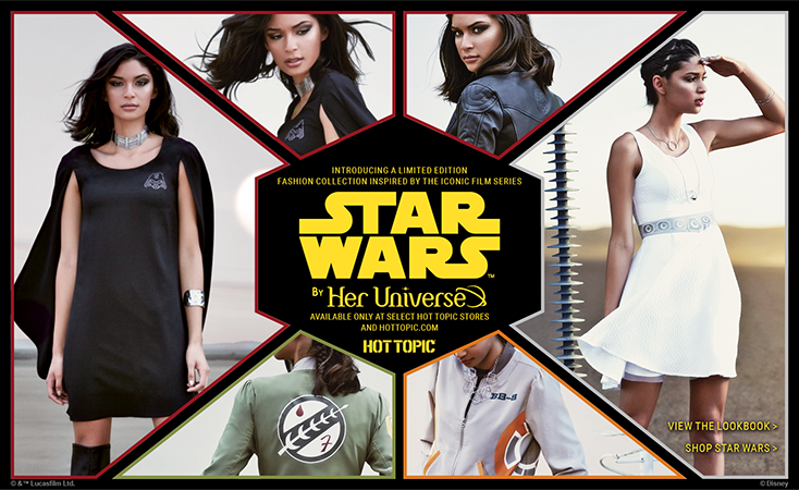 Her Universe Hot Topic Star Wars Collection