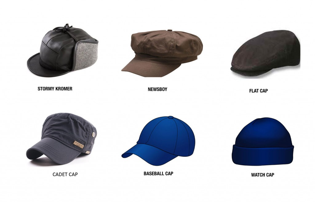 Types of mens hats
