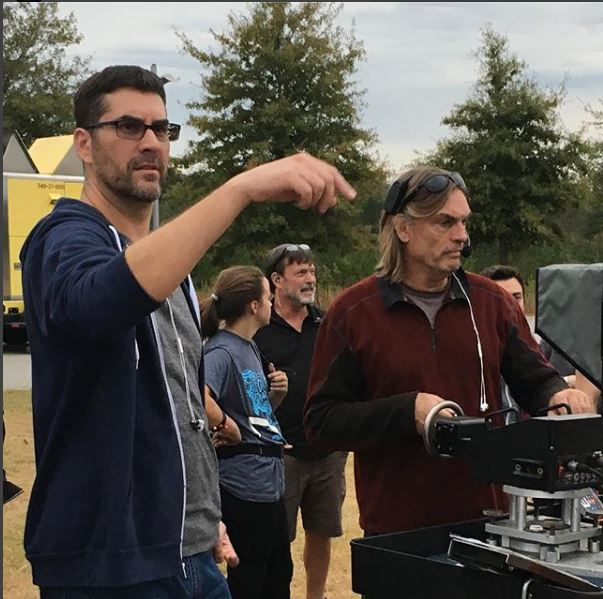 Craig Siebels on set of The Gifted