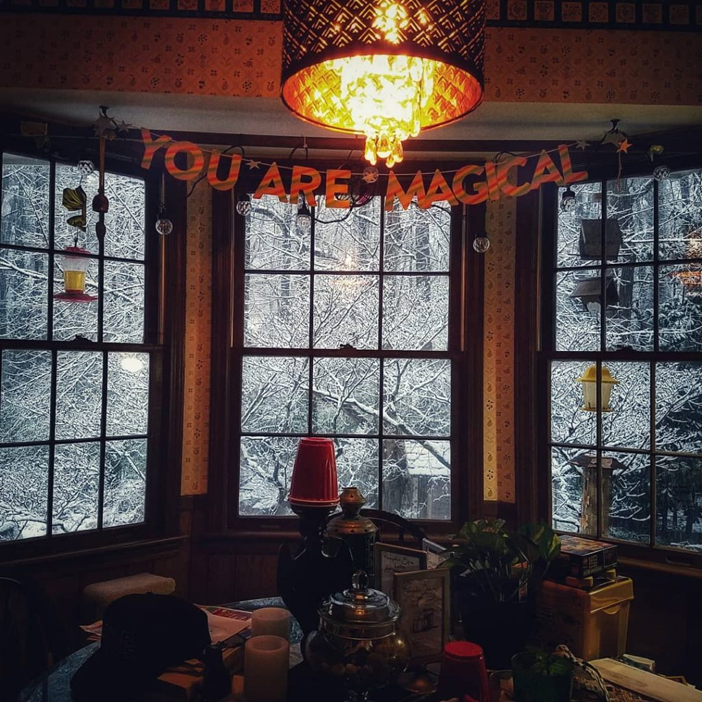 Atlanta winter window and snow aesthetic by The Lady Nerd