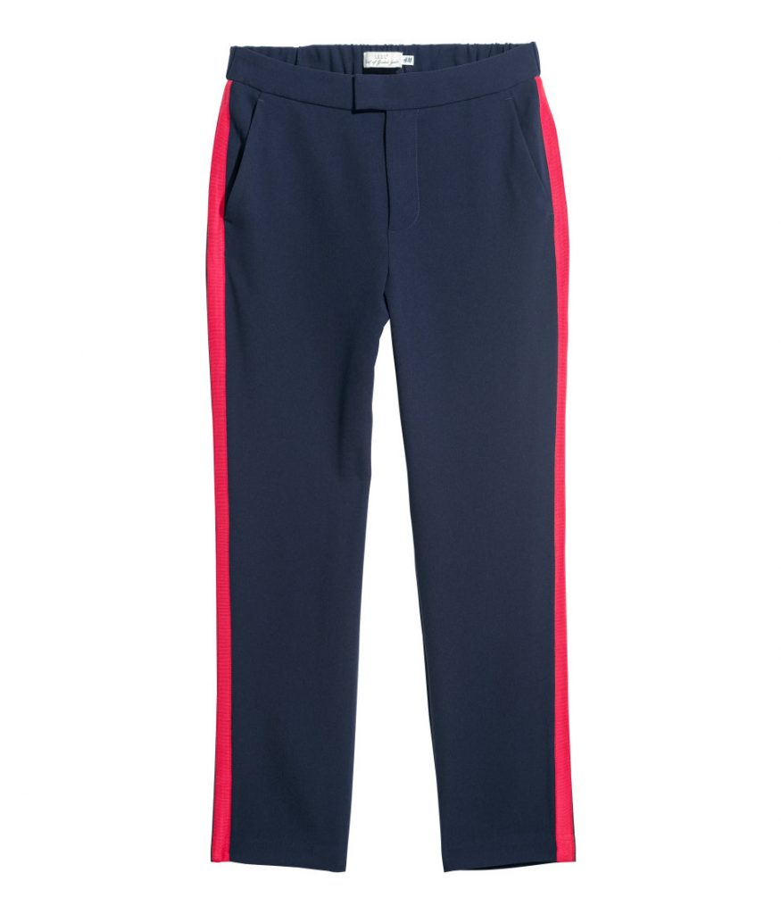 H&M Navy Pants with Red Stripe. Perfect for a fashion Han Solo!