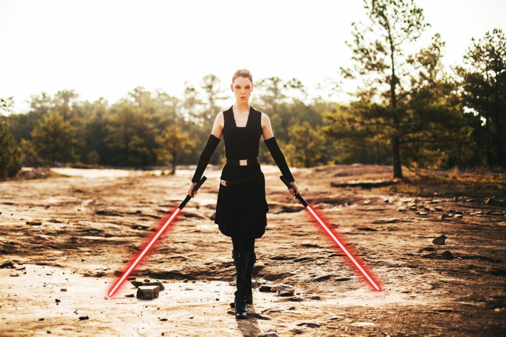 Dark Rey Pose by The Lady Nerd. Photograph by Kyle Matthew Williams