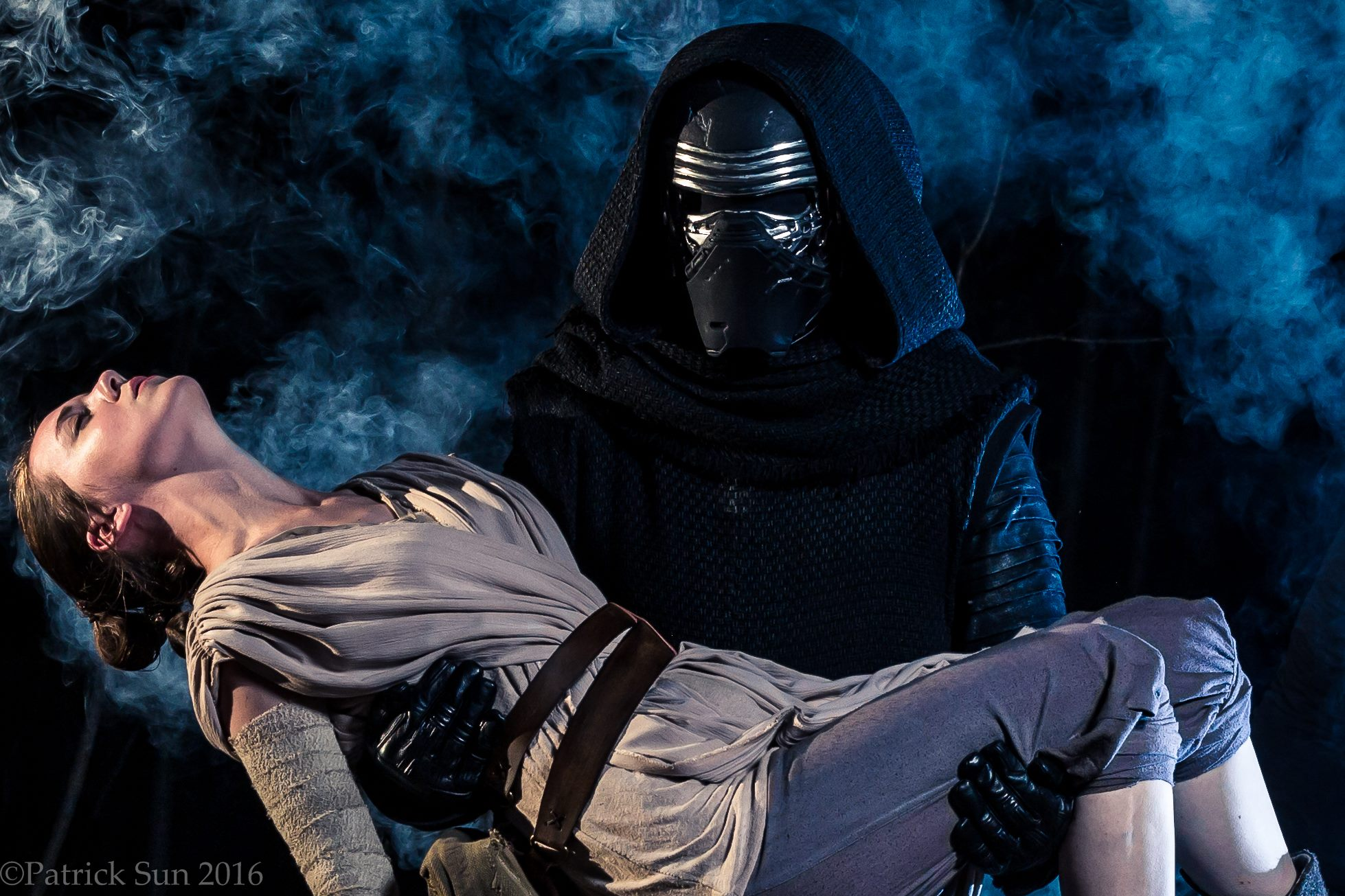 To Have and to Hold. Rey by The Lady Nerd and Kylo Ren by jeremy Berry. Photography by Patrick Sun.