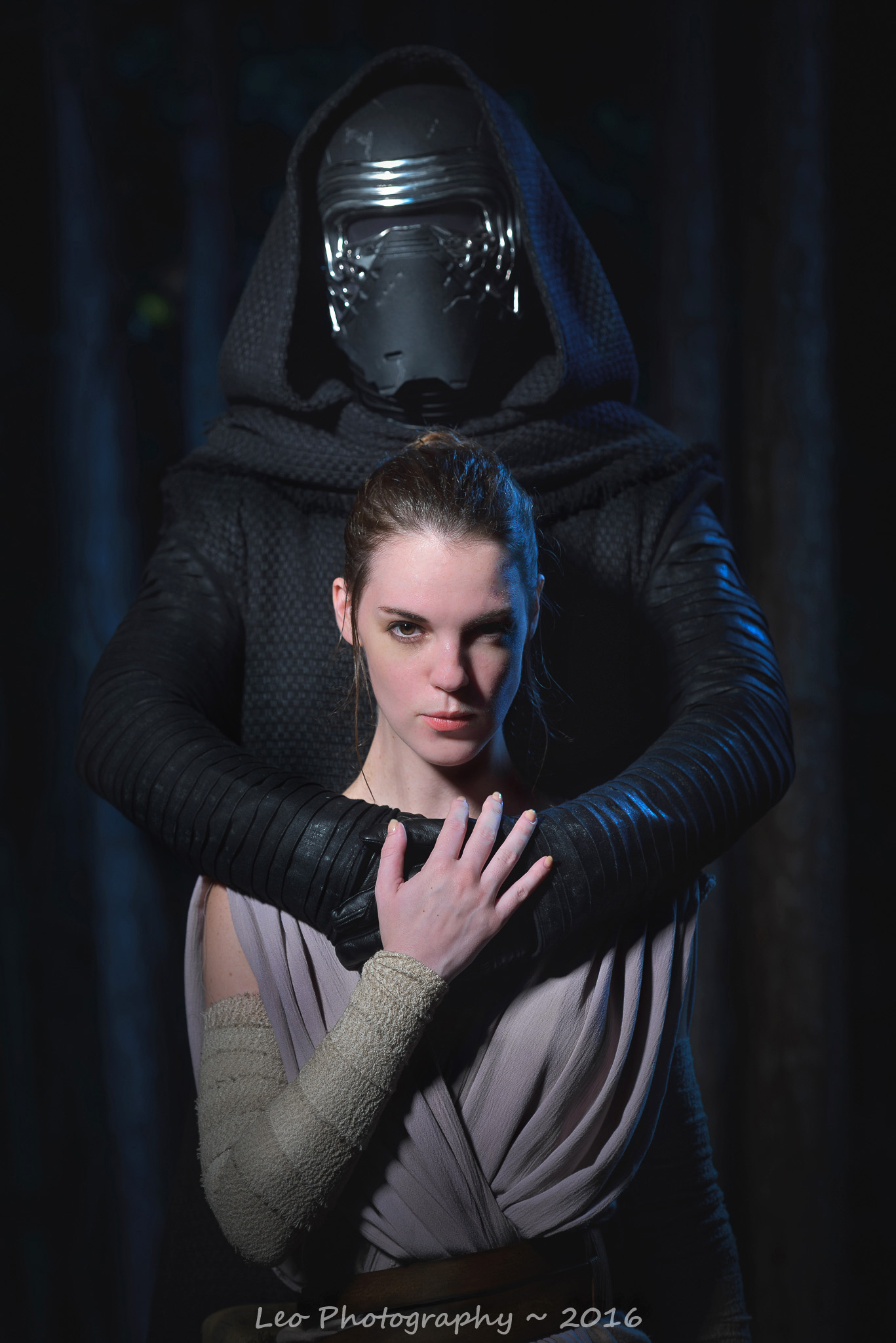 Awkward Prom photo of Kylo Ren (Jeremy Berry) and Rey (The Lady Nerd). Photographed by David Leo Photography